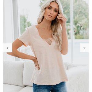 White Vici Beautify Cotton + Lace Top
